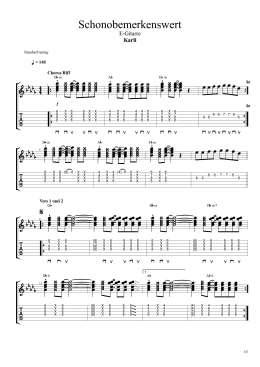 Karli - Schonobemerkenswert E-Gitarre_Seite_1